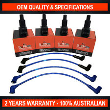 4x Swan Ignition Coil Pack w/ NGK Lead Kit for Mazda RX8 1.3 Wankel 13MSP Rotary