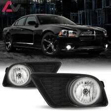 11-14 For Dodge Charger Clear Lens Pair OE Fog Light Lamp+Wiring+Switch Kit DOT