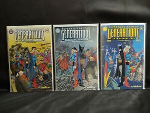 Superman & Batman Generations An Imaginary Tale #2 3 and 4 Near Complete Series!