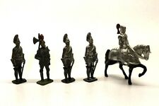 5 x Die Cast Knights Horse 1:32 Figures Vintage Collectable Toy F8