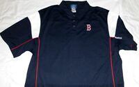 Boston Red Sox Victory Polo Shirt Large Navy Embroidered Logos NFL