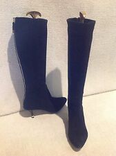 Great for Winter ...women's COACH black suede knee high heel boot size 8