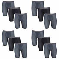 Fruit of the Loom Men's Boxer Briefs 12-Pack Everlight  Breathable Nylon/Spandex