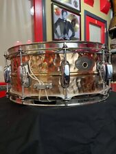 "Tama 90s PowerMetal 5.5 x 14"" Hammered Bronze Snare w Brass Mighty Hoops"