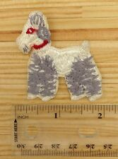 Vintage Dog Iron On Patch Poodle Terrier