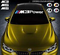 For BMW M3 M5 M6 POWER VINYL STICKER Windshield Windscreen DECAL E36 E39 E46 E63