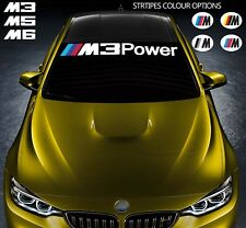 For BMW M3 M5 M6 POWER VINYL STICKER Windshield BANNER DECAL E36 E39 E46 E63 E90