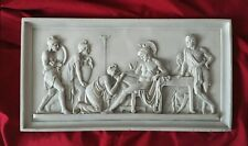 "Priam Begging Achilles Bas-relief - Greek Marble Relief - 50X26CM / 19.5""X10.2"""
