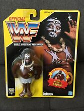 WWF Hasbro KAMALA  MOC 1993 Yellow Card WWE  WCW  BEAUTIFUL SHAPE !!