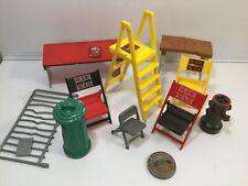 WWF WCW WWE Wrestling Figure Accessories Chair Ladder Rail Trash Can