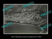 OLD LARGE HISTORIC PHOTO HOORN NETHERLANDS HOLLAND TOWN AERIAL VIEW c1940 2