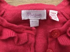 Monsoon Girls 6-12 Bolero Cardigan Red Christmas Angora Blend Party Soft