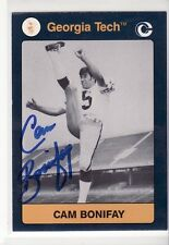 CAM BONIFAY AUTOGRAPHED GEORGIA TECH  FOOTBALL CARD