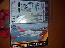 MATCHBOX PK-42 + TWO BOBS 72089 - T-2C/E BUCKEYE & Decal set 1/72