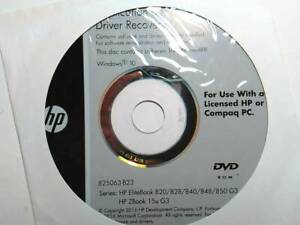 HP ZBook 15u G3 applications & driver recovery DVD
