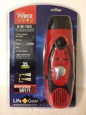 New Life Gear 6-In-1WX Hand Crank Quad Power Flashlight AM/FM Weather Radio