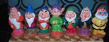 Snow White and the 7 Dwarfs Vintage 1985 Squeaker Set Vinyl Rubber Toys Complete