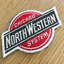 """Vintage CHICAGO NORTHWESTERN SYSTEM embroidered 3.5"""" patch RAILROAD LINE trains"""