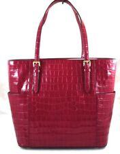 ❤️ NEW Michael Kors jet set travel mulberry large tote Croc Embossed Leather bag