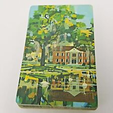 Plantation House Playing Cards Swans South Mid Century Stardust