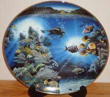 Underwater Paradise SERENITY OF WAIPIO plate Sea Turtle & Tropical Fish