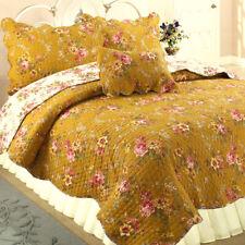 Pinegar Floral 100%Cotton 3-Piece Reversible Quilt Set, Bedspread, Coverlet