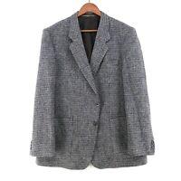 Harris Tweed 100% Laine Gris Veste Blazer Taille US/UK 44 Eur