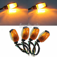 4 X Universal Motorcycle Motorbike Turn Signal Indicators Turning Lights Orange
