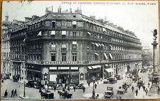 1913 Paris, France Postcard: Office of America Express Company, Rue Scribe