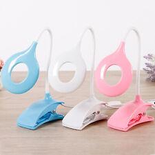 USB LED Light Clip On Bedside Table Flexible Lamp Desk Reading Books Eye Protect
