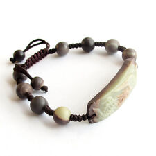 Tibet Buddhist Natural Stone Gem Happy Lucky Phoenix Prayer Beads Mala Bracelet