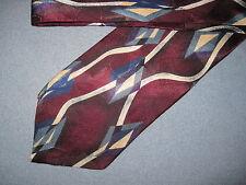 Mens Multi Print Silk Tie Necktie Oscar de la Renta ~ FREE US SHIP (6842)