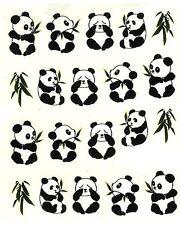 One Stroke Sticker Tiere Panda Tattoo Aufkleber Nr.1322