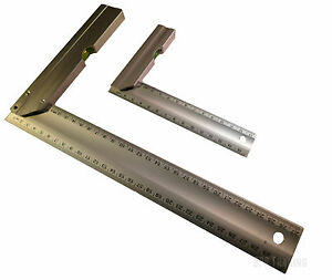 """150mm (6"""") OR 300mm (12"""") Engineers Try Square Set Right Angle Guide With Level"""