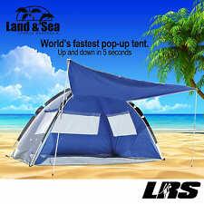 NEW Land & Sea Pop Up FAMILY Beach Tent UV50+ Sun Shelter Park Zipper Front Door