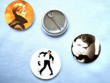 David Bowie-Berlin Trilogy Set of 3 Badges Mott The Hoople T.Rex Eno Roxy Music