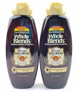 2 Bottles Garnier Whole Blends Ginger Recovery Strengthening Shampoo 16.9 oz