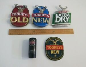 Assorted TOOHEY'S New Old & Extra Dry beer tap heads & knob