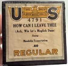 VINTAGE PLAYER PIANO MUSIC ROLL U S HOW CAN I LEAVE THEE 4791