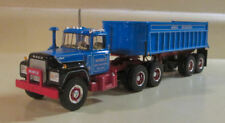 """FIRST GEAR 1/34  """"MOBILE EXCAVATING"""" R MACK TRAILER DUMP  19-2558 NEW IN BOX"""