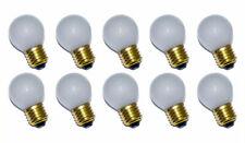 """10 ampoules á incandescence 60w E27 GE dépolies """"balle de golf"""""""