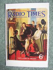 NEW Postcard Vtg Radio Times cover December 1923 Xmas Family Sitting room BBC
