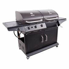 Char-Broil 1010 Deluxe Charcoal/Gas Combo Grill, Black, 780