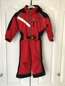 New Obermeyer Boys Kids Ski Hooded Snow Suit Size 3T I-Grow Extended Wear Red P1