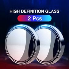 2Pack 360° Hd Round Blind Spot Mirror Glass Frameless Convex Rear View Mirror