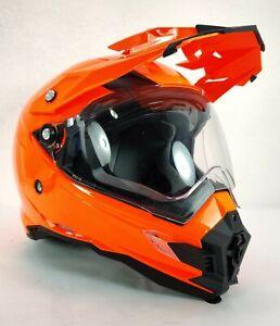 AFX Motorcycle HELMET FX-41DS Orange Large Motocross Visor