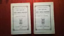 MARINE LES ANGLAIS ET LES HOLLANDAIS JURIEN DE LA GRAVIERE 2 VOLUMES 1890 E.O.