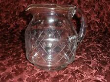 RETRO VINTAGE HAND ETCHED FINE GLASS JUG