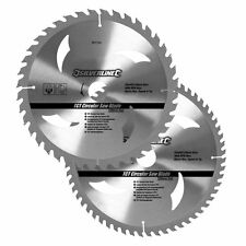 SILVERLINE 2-PACK TCT CIRCULAR SAW BLADES - 40 & 60T - 250x30 - 25, 16mm RINGS