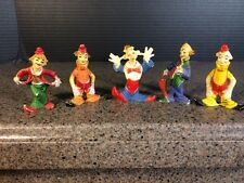 Vintage Made In Hong Kong Clown Figures 2""
